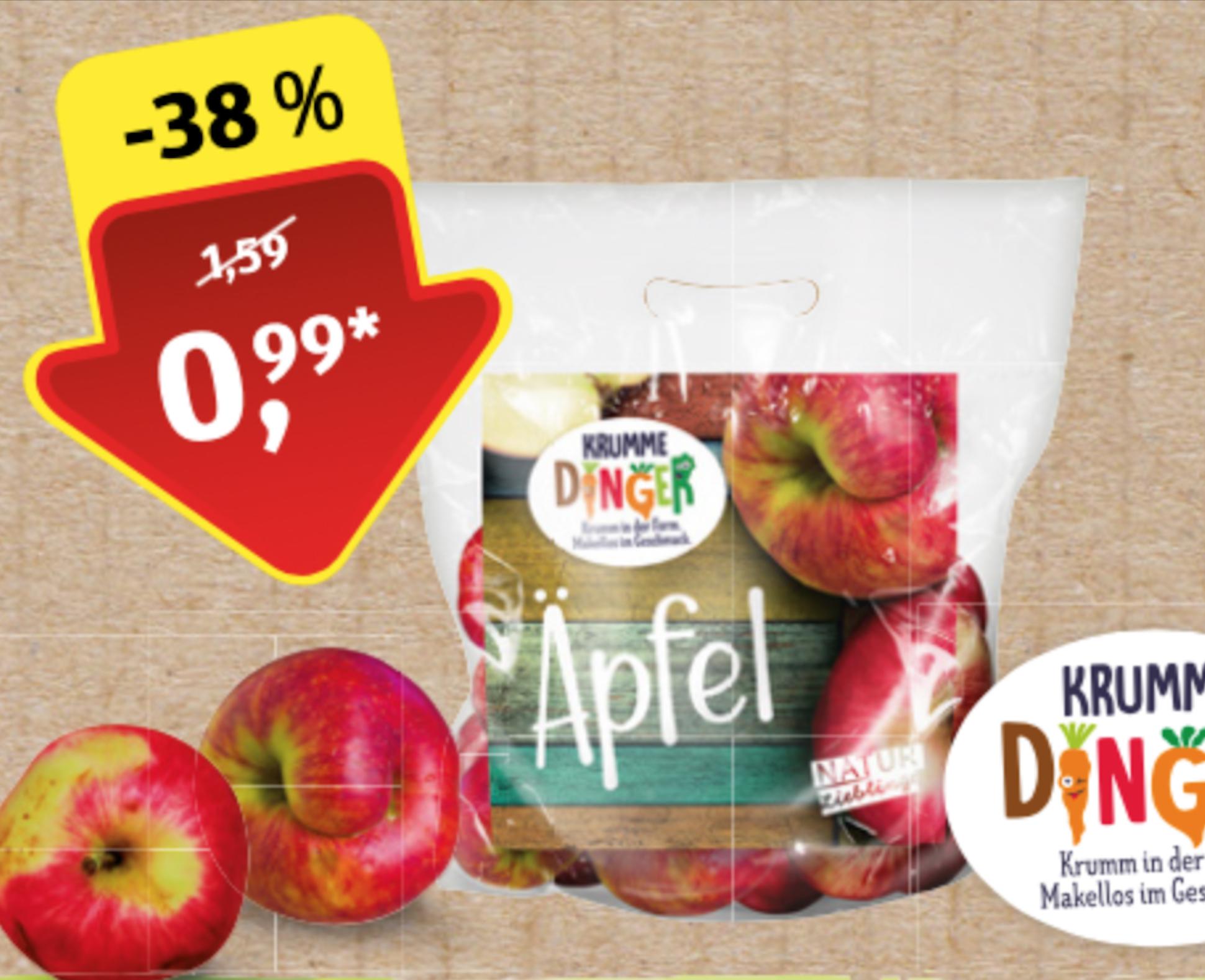 """Äpfel """"Krumme Dinger"""" 2kg [ALDI Süd]"""