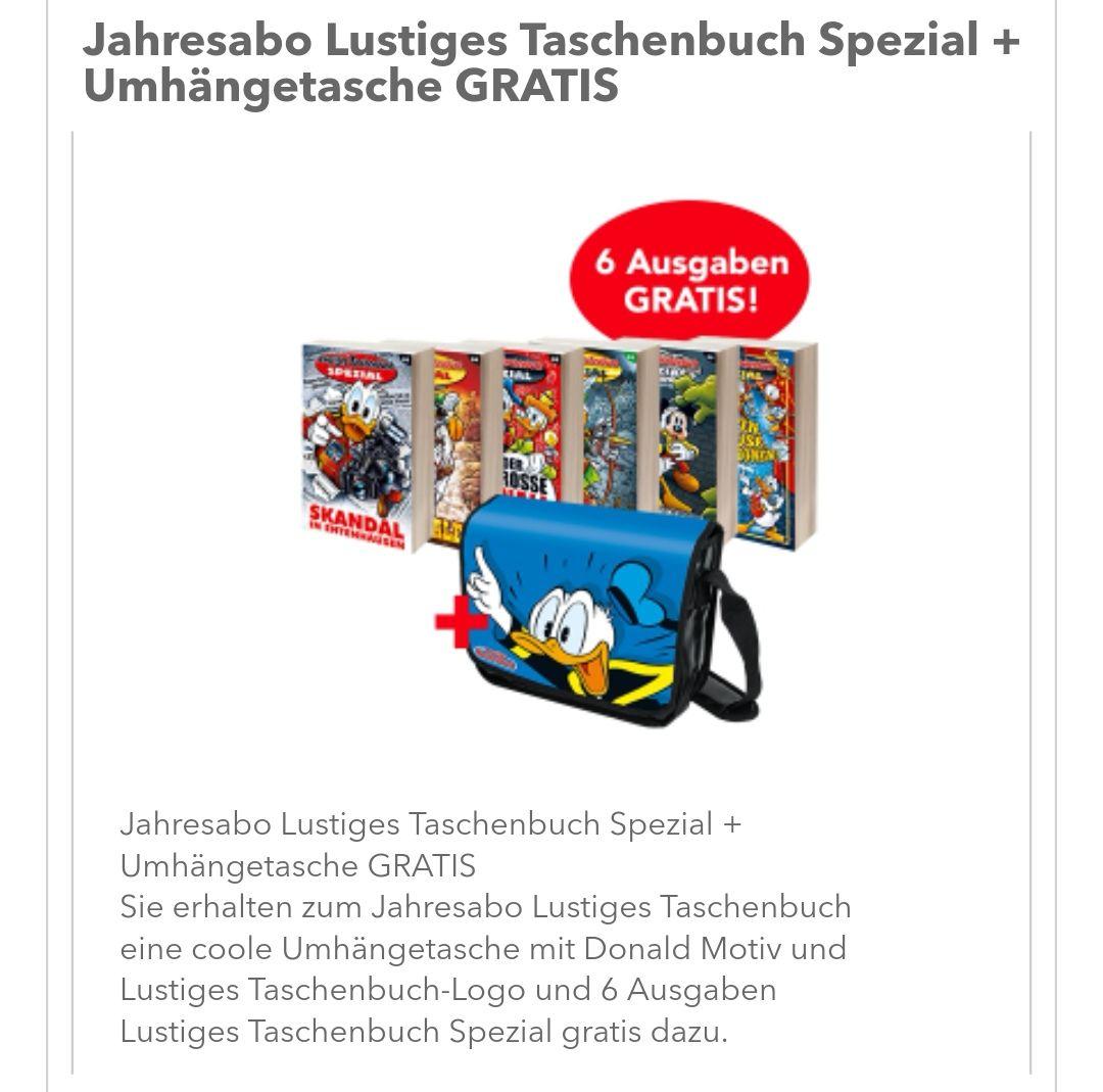 Lustiges Taschenbuch LTB Jahresabo plus LTB Spezial Abo geschenkt