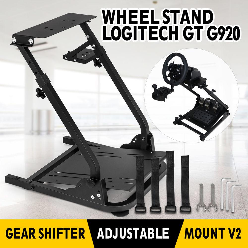 Steel Gaming Wheel ständer für Logitech G25, G27, G29, G920 und Thrustmaster T300RS, TX F458, T500RS, T3PA-PRO (F1/GT) pedals
