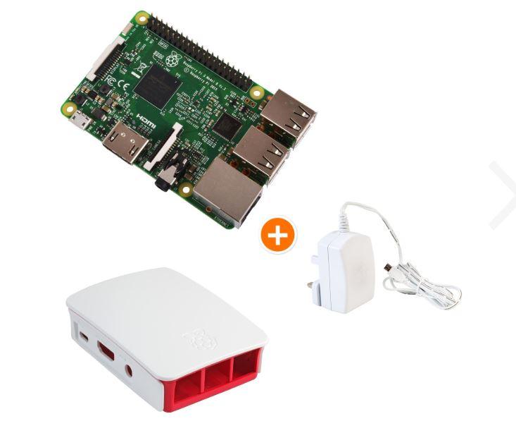 Raspberry Pi 3 Model B Starter Bundle - inklusive offiziellem Gehäuse und Netzteil