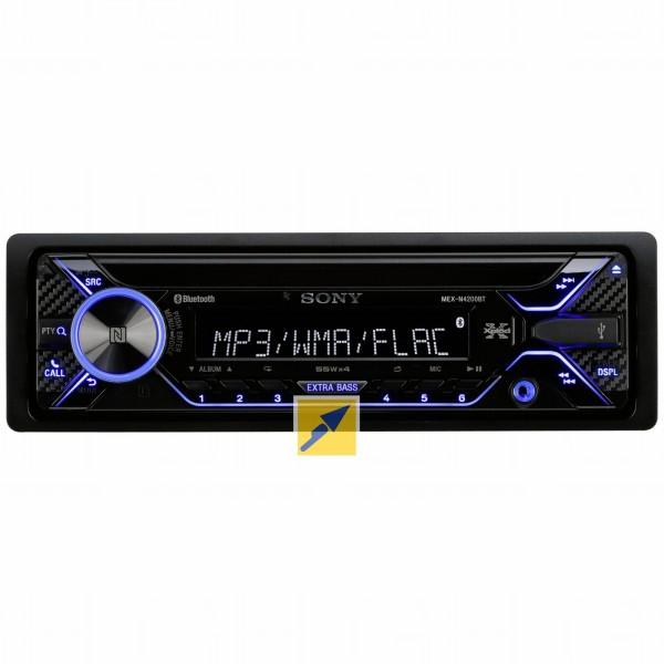 """Sony Autoradio """"MEX-N4200BT"""" (CD, NFC, 2X BT, USB/AUX, 4X 55W) [TECHNIKdirekt + paydirekt]"""