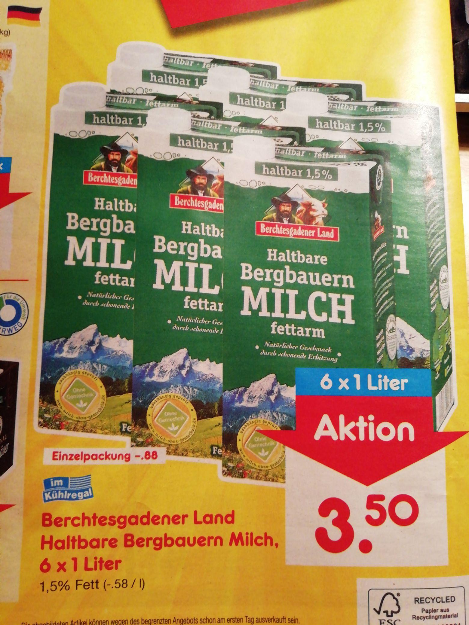 [Netto MD]  lokal Berchtesgadener Land H-Milch 6x 1l für nur 3,50€ => günstiger als Eigenmarke [nur am 12.01]