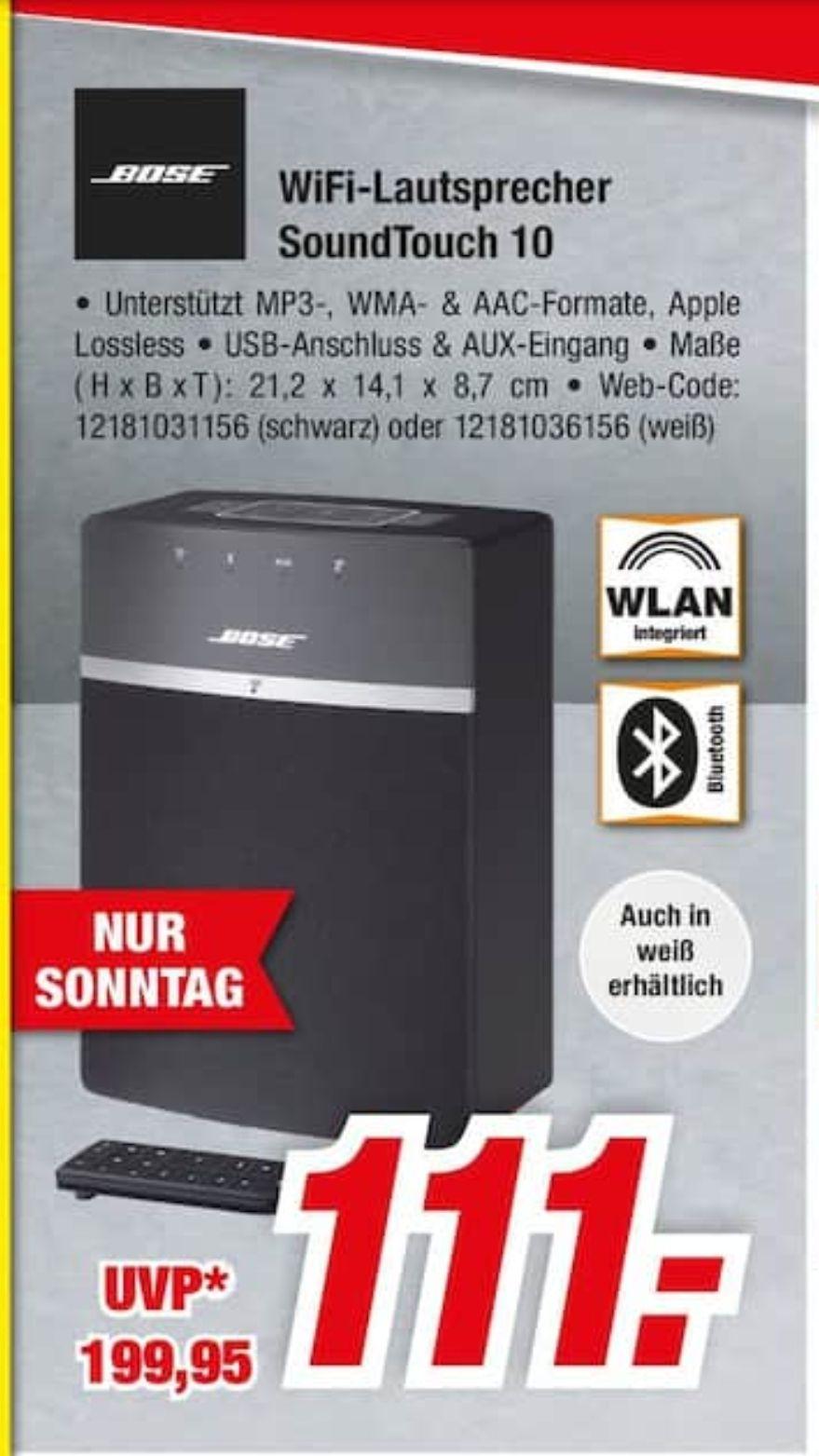 Bose SoundTouch 10 Schwarz,Weiß WLAN Lautsprecher für 111€ [Lokal Expert Elmshorn]