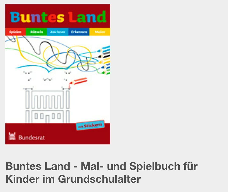 (Wieder verfügbar) Freebie: Buntes Land- Mal und Spielbuch/ Das Länder Stickerheft