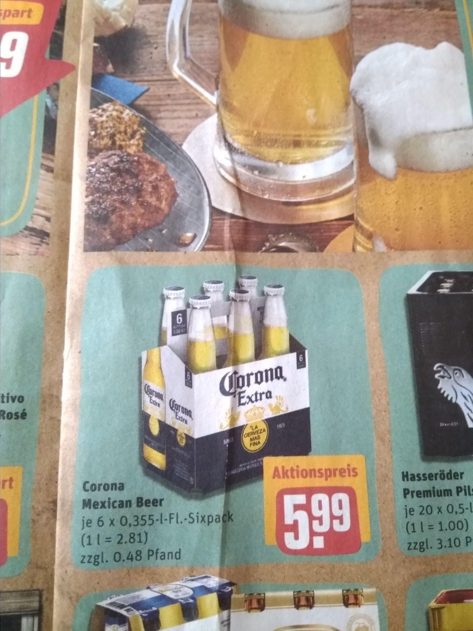 [Rewe + Penny] Corona Extra - 6-Pack für 5,99€ / Flasche unter 1€