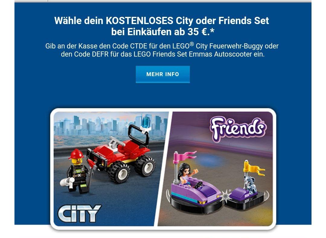 Gratis Beigabe für Lego Bestellungen ab 35€