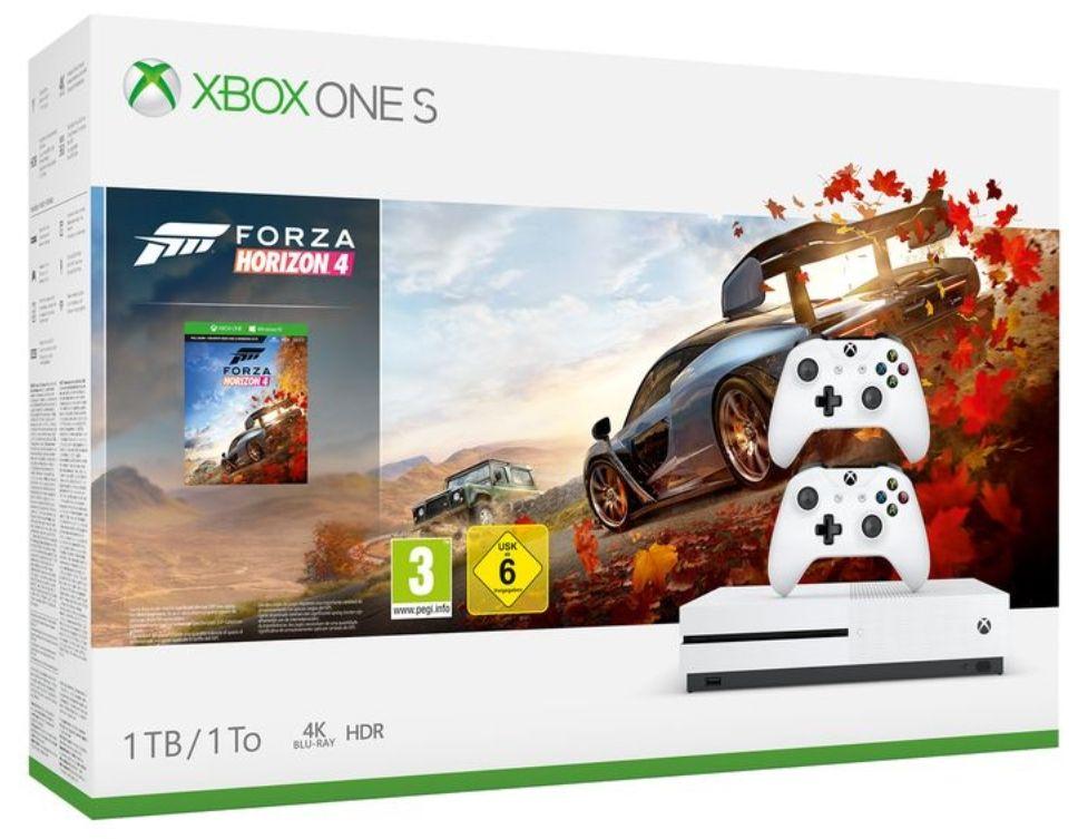 Microsoft Xbox One S 1TB Forza Horizon 4 Bundle + 2. Xbox OneS Wireless Controller