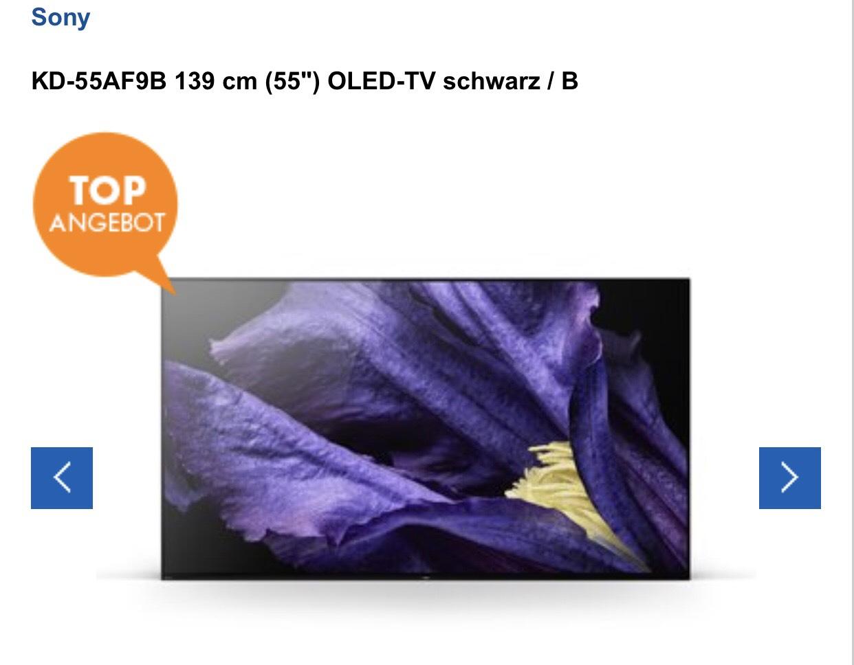 """Sony 55"""" AF9 OLED TV (Euronics Ratingen)"""