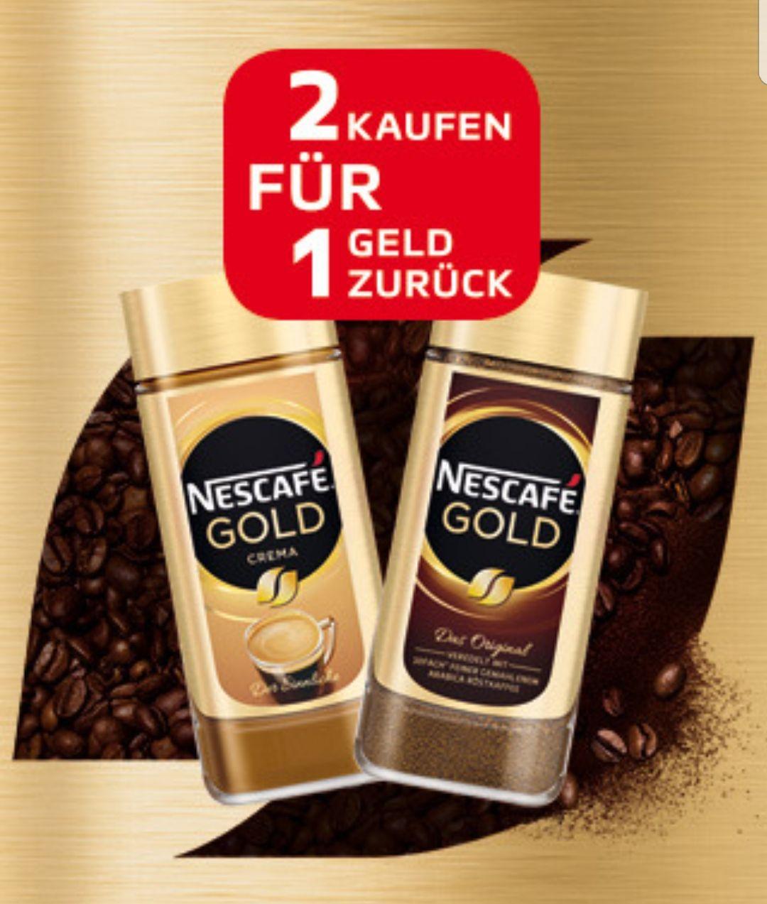 NESCAFE Geld zurück Aktion: Zwei Nescafe Gold kaufen und für eines davon Geld zurück erhalten (letzte Möglichkeit 01.02./02.02. Penny Markt)