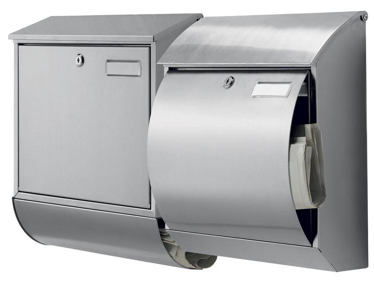 Edelstahl-Briefkasten LIVARNO LIVING mit integrierter Zeitungsbox für 24,94 Euro [Lidl-Online]