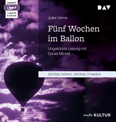 Jules Verne: Fünf Wochen im Ballon - kostenloses ungekürztes Hörbuch + gratis Ebook