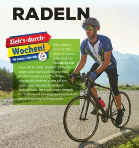 """Lidl """"Fahrrad-Woche"""" ab Do 28.02.19, z. Bsp. 1 Paar Schläuche für 2,99€, USB-Beleuchtungsset 11,99€, Montageständer 24,99€, etc.…"""