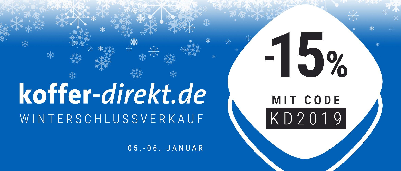 koffer-direkt.de -15% & -5% Winter Sale auf Rimowa / Samsonite / Tumi