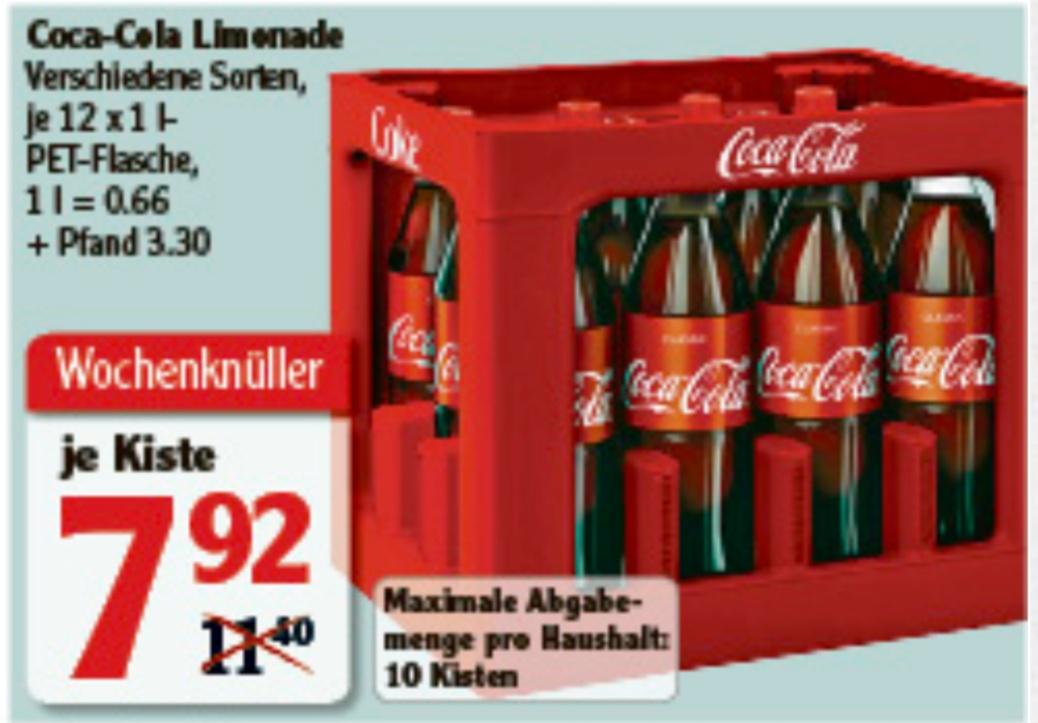 [Globus ggf. lokal] Coca-Cola-Kosten 12x1l - verschiedene Sorten