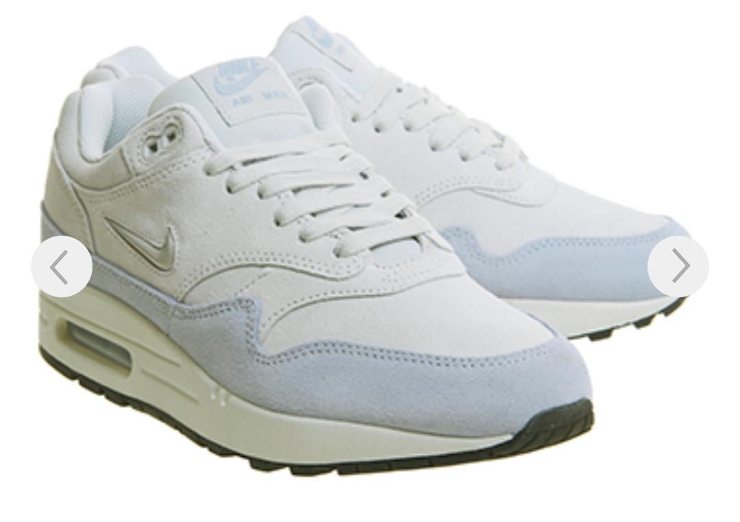 Nike Air Max 1 Jewel Pure Platinum Royal Gr. EU 36 - 42,5