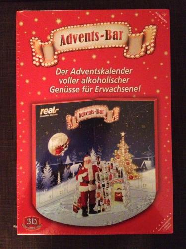 Real,- Advendskalender / Minibar - 24 Kurze / Schnäpse