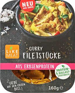 Bio-Curry-Filetstücke, Hähnchen- o. Pulled-Pork-Art von LIKE MEAT  ab dem 10.01 für 2,22€ bei KAUFLAND