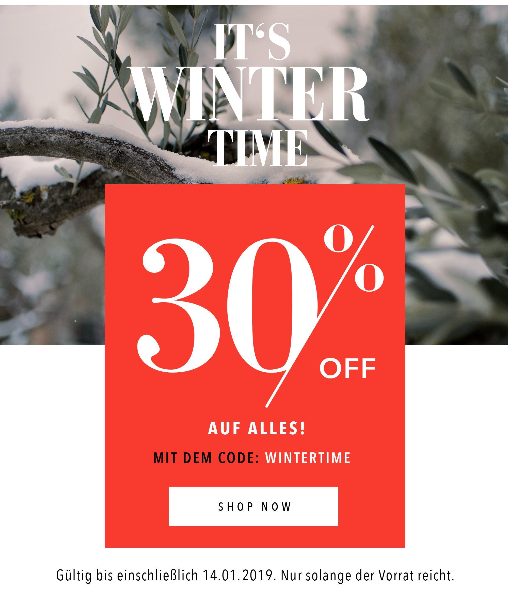 Winter Sale bei OLIVEDA -30%