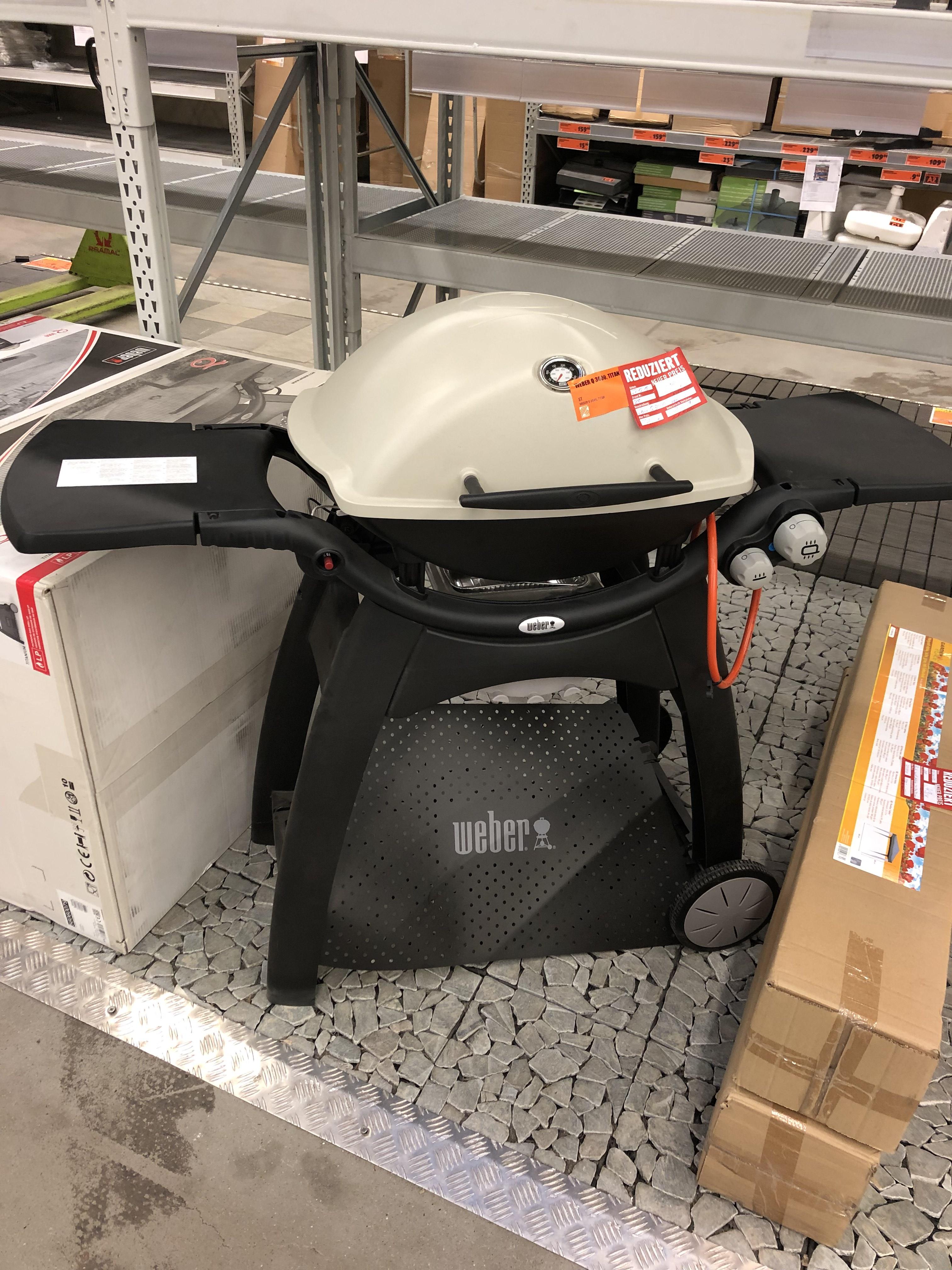 (LOKAL) Hornbach Dresden Weber Q3000 Titanium Gasgrill