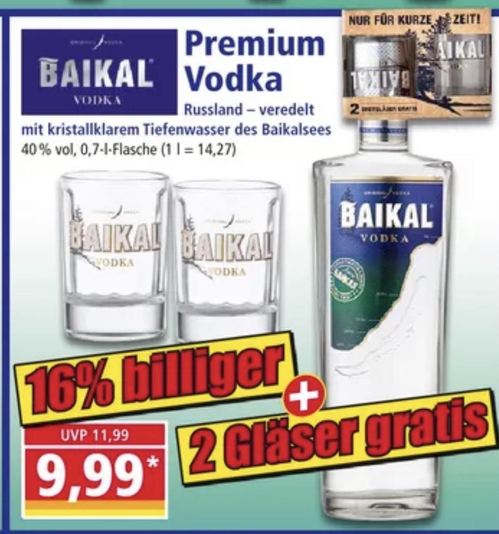 Baikal Premium Vodka 0,7l inkl. 2 Gläser 9,99€ [Norma]