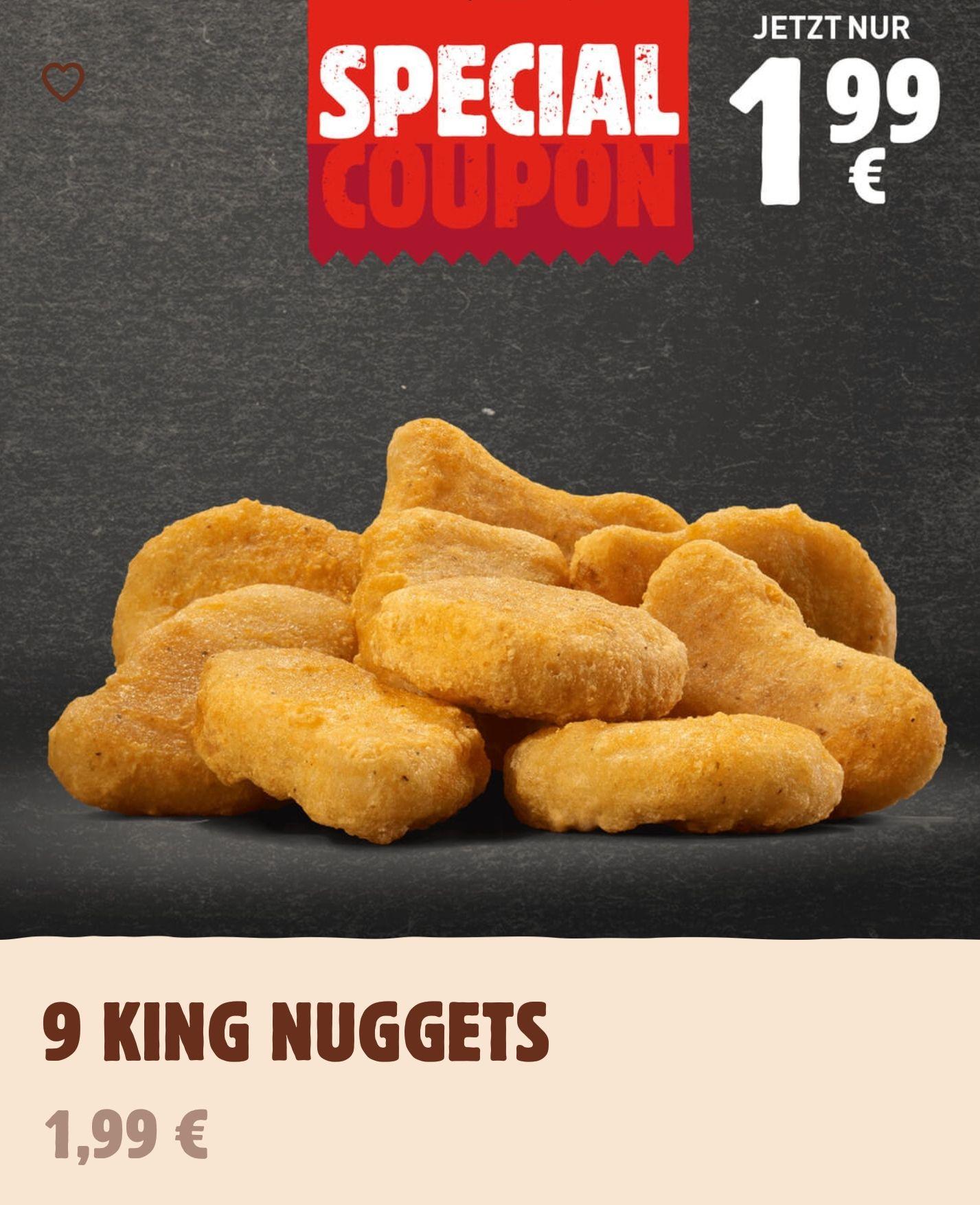 9er King Nuggets + 2 Dips für 1,99€ [Burger King]