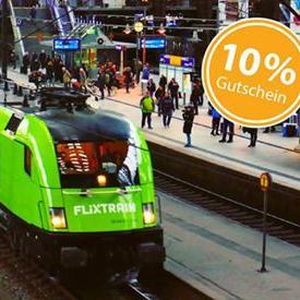 FlixTrain & FlixBus - 10% Gutschein über Facebook & 7pass