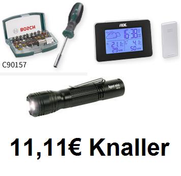 Sammeldeal digitalo 11,11€ Knaller inkl. Versand  z.B. Ansmann Agent mini LEDTaschenlampe
