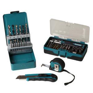 (Ebay WoW)Makita-67tlg-Bit-Bohrer-Steckschluessel-Set-Bandmass-Cutter-Originalware