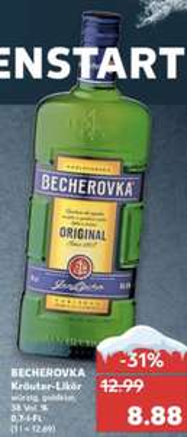 Becherovka Tschechischer Kräuterschnaps zum Bestpreis 8,88€ 0,7l [Kaufland]