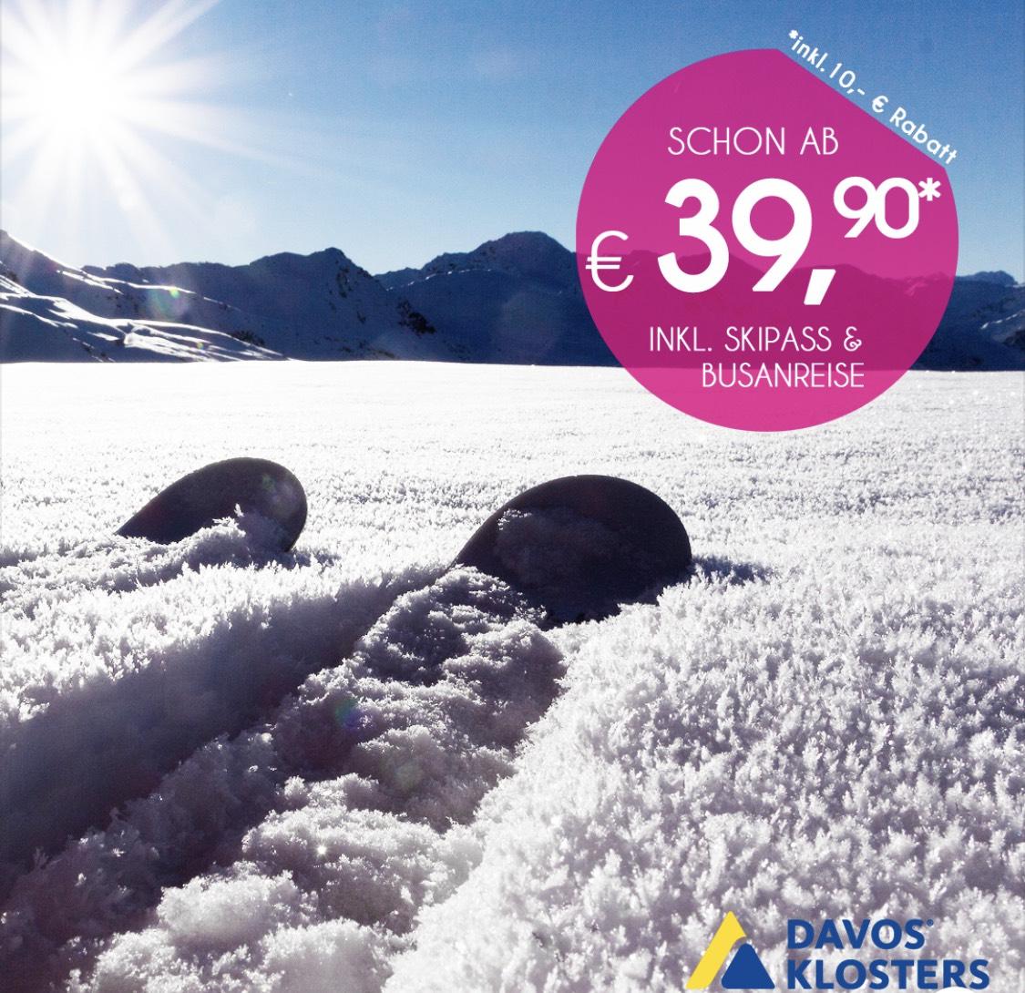 Schneebeben 10€ Rabatt aus die Fahrt nach Davos (19.01.2019)