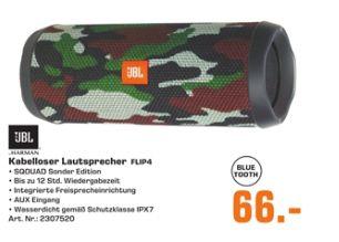 [Regional Saturn München/Freising] JBL Flip 4, Bluetooth Lautsprecher,2x 8 Watt, Wasserfest, Camouflage  für 66,-€