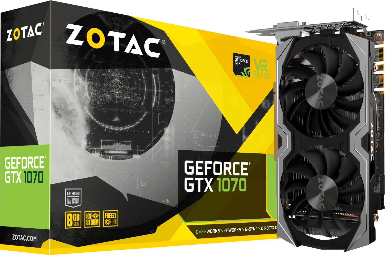 ZOTAC GeForce® GTX 1070 Mini 8GB (ZT-P10700G) (NVIDIA, Grafikkarte)