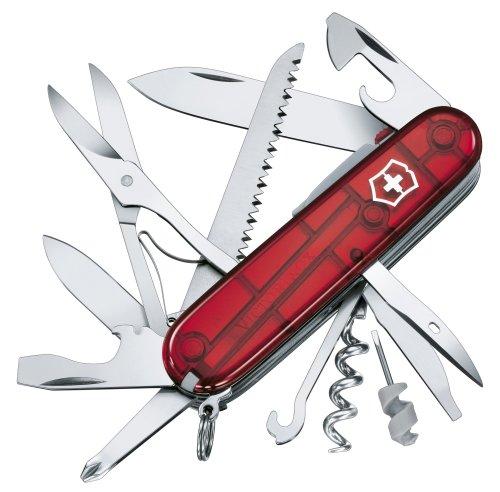 Victorinox Taschenmesser Huntsman Lite 21 Funktionen, Klinge, Mehrzweckhaken, LED rot transparent für 32,21€ inkl. Versandkosten [AmazonFR]