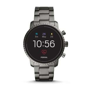 Amazon - Fossil Q Explorist HR (4. Generation) Edelstahl grau