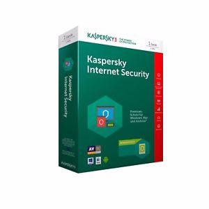 Kaspersky Internet Security 2018 oder 2019 Lizenz für 1 Jahr