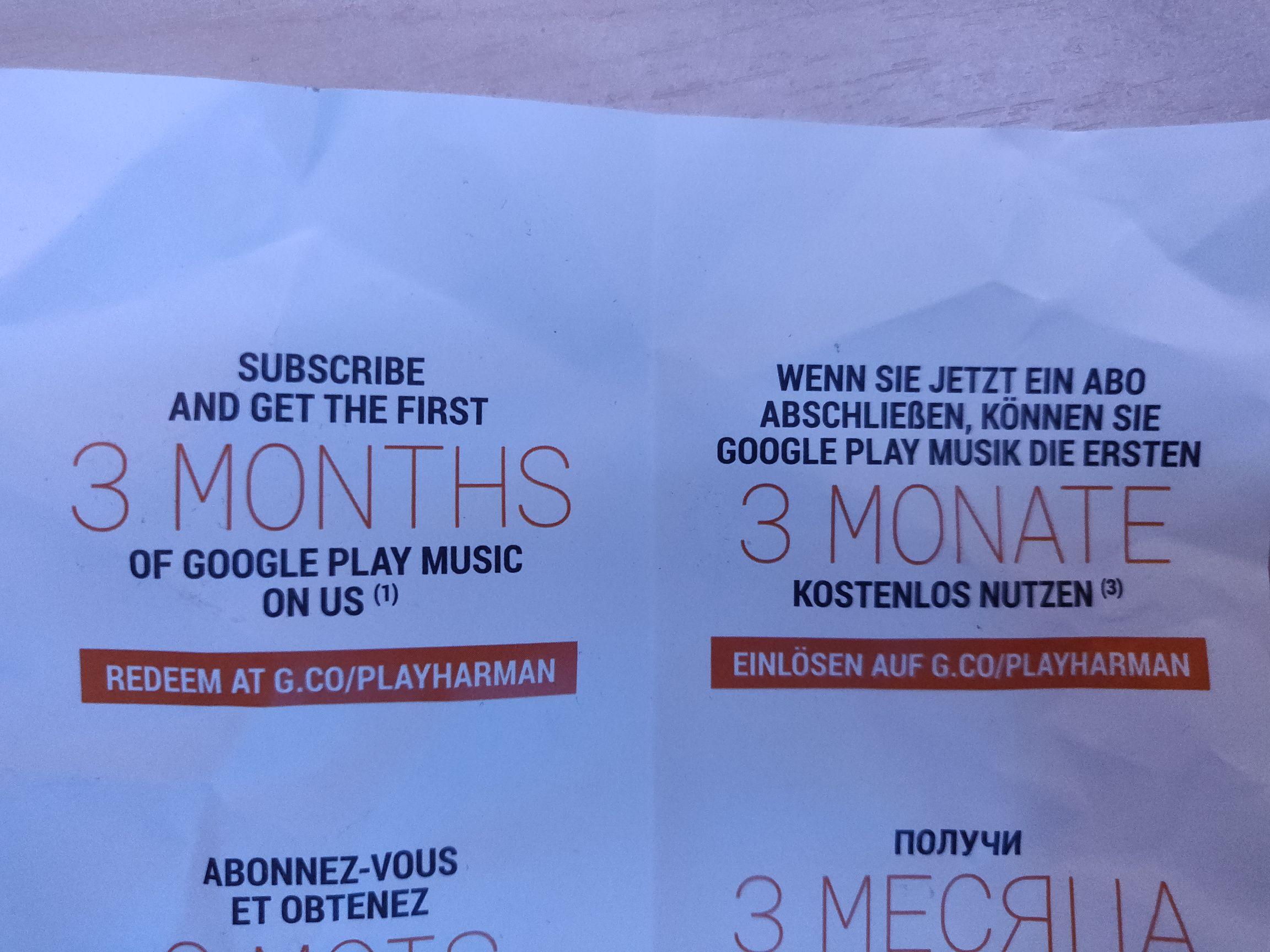 3 Monate Google Play Music Gratis