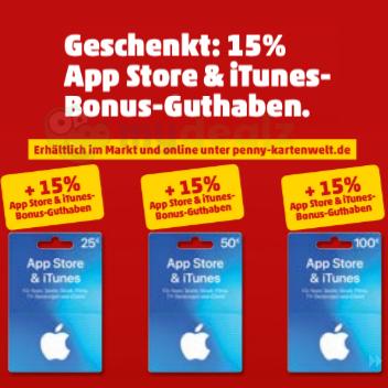[Rewe] 15% extra Guthaben für App Store & iTunes Geschenkkarten ab 01.04.