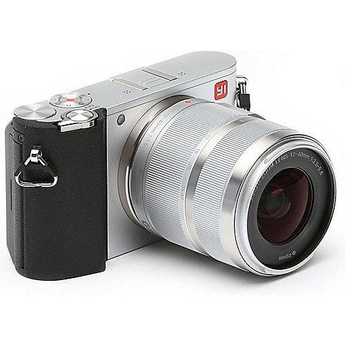 "Systemkamera YI M1 Kit 12-40 mm silber (20.2 MP MFT, 3.2x optischer Zoom, f/3.5-5.6, 4K Video, HDMI, USB 2.0, WLAN, 3"" Touchscreen)"