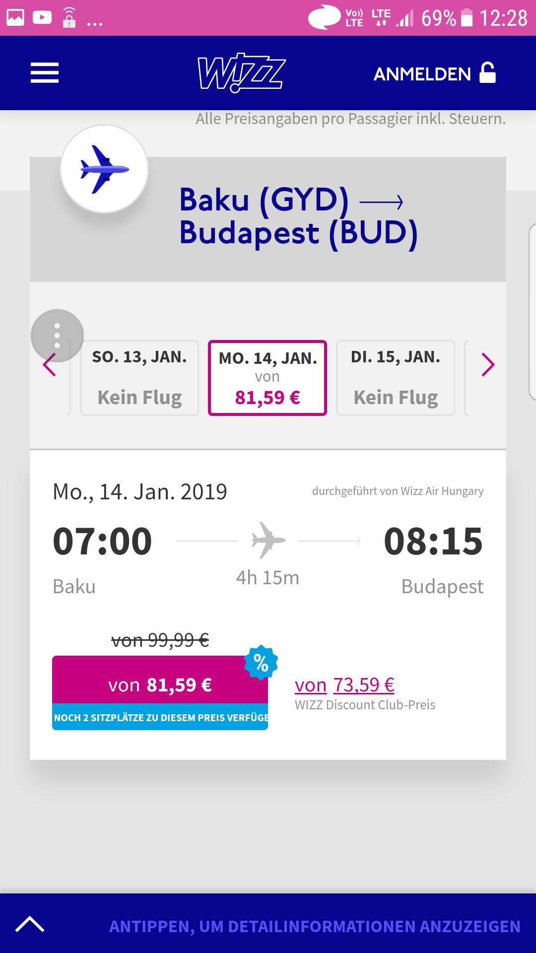 Flüge: Nochmals 20% bei Wizz Air