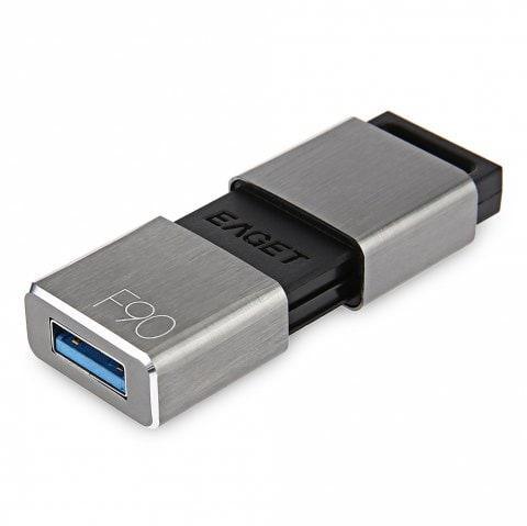 USB 3.0-Stick Eaget F90 mit 128GB (~154 MB/s Lesen, ~34 MB/s Schreiben, Metallgehäuse)