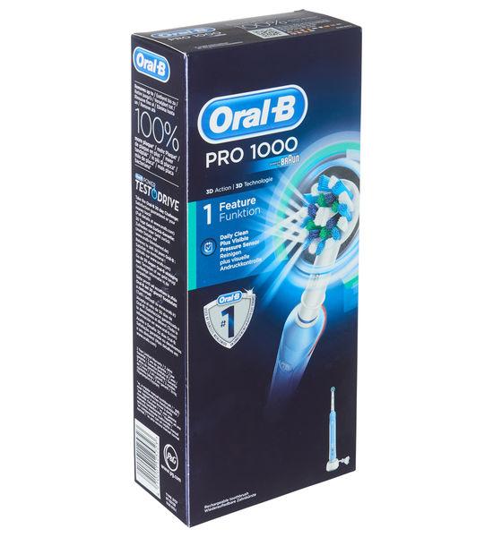 Oral-B Pro 1000 (40.000 Pulsationen pro Minute, 2-Minuten-Timer, sensitive und visuelle Andruckkontrolle)