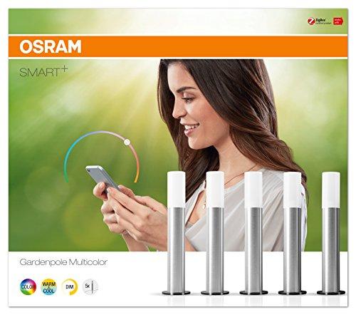 Osram Smart+ LED ZigBee Außen-/Gartenleuchten Warmweiß bis tageslicht dimmbar RGB Farbwechsel 5 Spots Alexa kompatibel für 39,99€