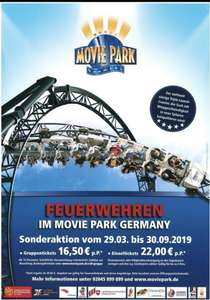 Feuerwehr Rabatt MOVIE PARK GERMANY [LOKAL BOTTROP]