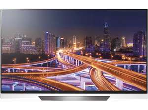 """LG OLED55E8 (55"""", Ultra HD, OLED, 120 Hz, 10bit, ~700cd/m², HDR10+Dolby Vision+HLG, webOS 4.0, a9-Prozessor, 4x HDMI, Twin-Triple-Tuner)"""