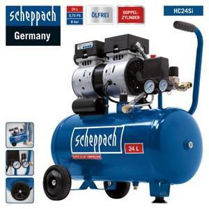 Scheppach Leise Kompressor HC24Si 24L Flüsterkompressor 8bar - Silent nur 60dB
