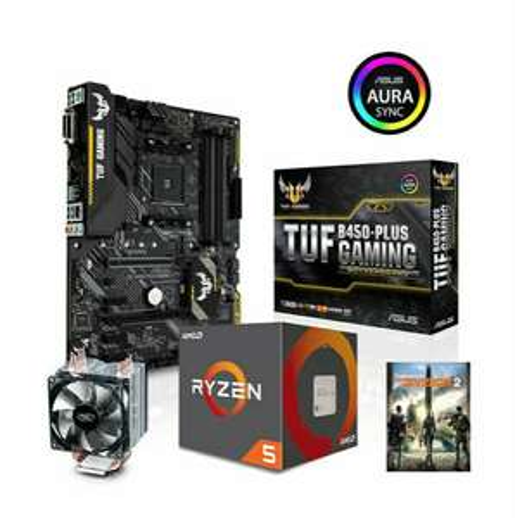 AMD Ryzen 5 2600X Prozessor + Asus TUF B450-Plus Gaming Mainboard + Deepcool Gammaxx C40 CPU-Kühler + The Division 2 (CSL-Computer)