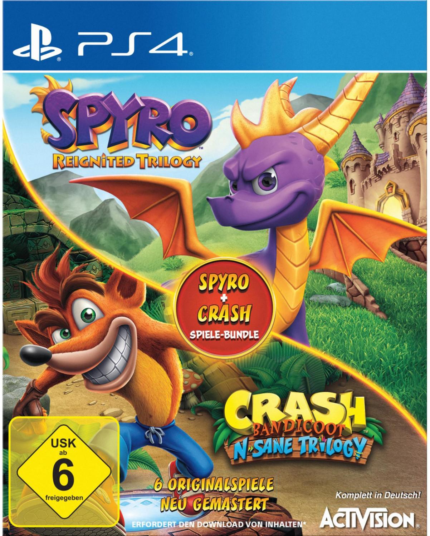 Spyro Reignited Trilogy + Crash Bandicoot N.Sane Trilogy (PS4) für 46,74€ (Müller)