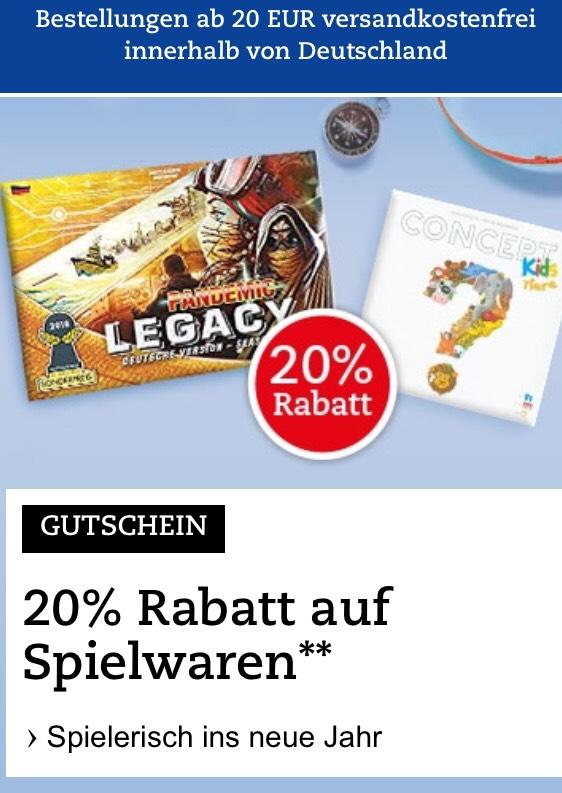 [bol.de] 20% auf Spielwaren
