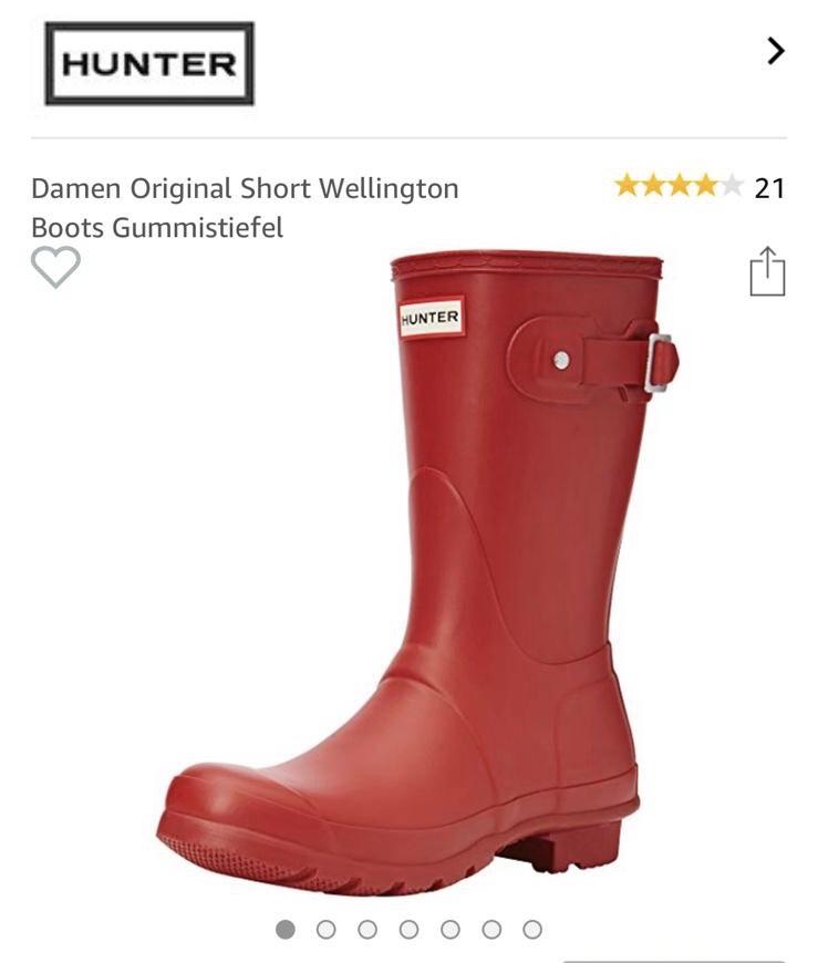 Hunter Gummistiefel für Damen (Original Short Wellington Boots) bei Amazon