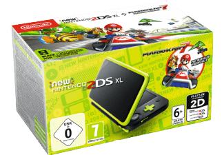NINTENDO New Nintendo 2DS XL Schwarz+Apfelgrün inkl. Mario Kart 7 Tragbare Konsole, Schwarz/Apfelgrün